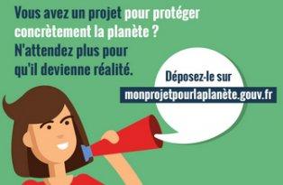 Appel à initiatives citoyennes «Mon projet pour la planète»