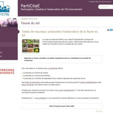 Nouveaux protocoles de sciences participatives sur le sol